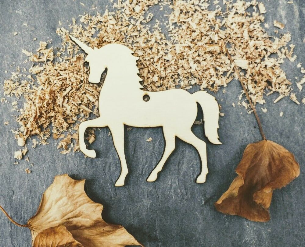 Single Laser 4mm Plywood Unicorn Shape